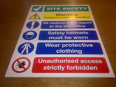 Building Site Safety Sign No2 - 2 sizes best value same day dispatch 4mm or 6mm