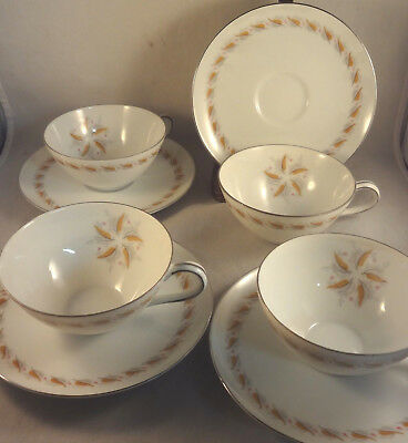 JUDI Fine China of Japan CUP & SAUCER SETS (4 pair) coffee tea