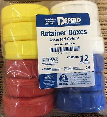 Defend Retainer Boxes Assorted Colors 12/pack Dental