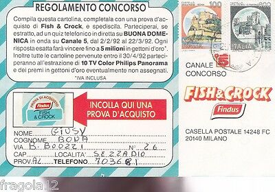 Italia 1986 - Cartolina Concorso Fish & Crock Findus (1)