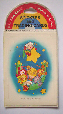 Rainbow Brite trading cards and stickers vintage Hallmark package 1983 C