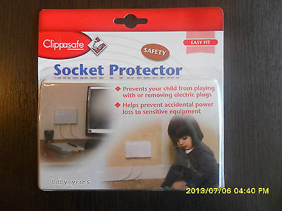 Clippasafe Socket Protector Cover Single Double Plug Sockets Child Home Saftey