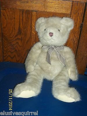 "RUSS BERRIE TAN TRAFALGAR TEDDY BEAR PLUSH 17"" TALL"