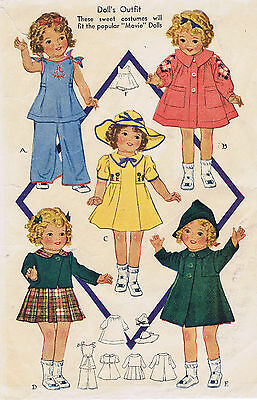 """418 Vintage Chubby Doll Pattern Size 13"""" -- Year 1936"""