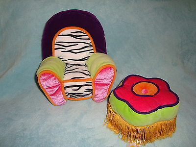 Groovy Girls Manhattan Toy Plush Arm Chair &  Foot Stool Ottoman 2 pc Lot