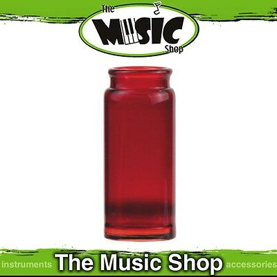 Brand New Jim Dunlop 278R Blues Bottle Glass Red Large Guitar Slide - J278R