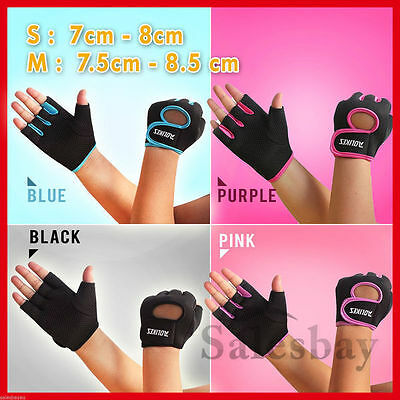Latest Premium Women Gym Gloves Cycling Weight Lifting Mittens  Fitness 4 Colors