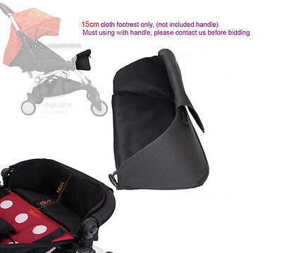 Universal EXTENSION 15cm Generic Booster Cloth Footrest ONLY Stroller YoYa, YuYu