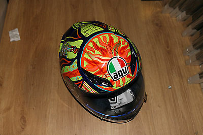 Valentino Rossi Signed 5 Continents Helmet Unframed + Photo Proof & C.o.a