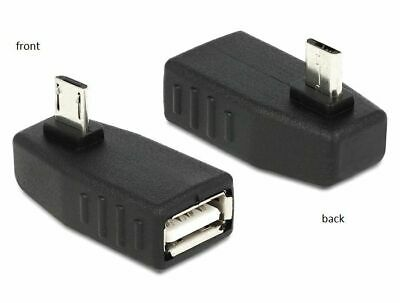 Delock Adapter USB micro B male > USB A female OTG 90°angled OntheGo for Android