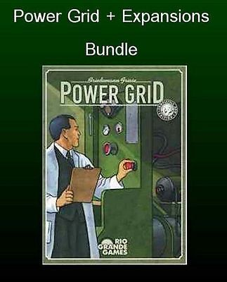 Power Grid Board Game + All Expansions (New)