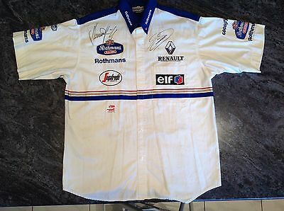 Original 1994 FORMULA ONE WILLIAMS CREW SHIRT SIGNED by Hill & Coulthard