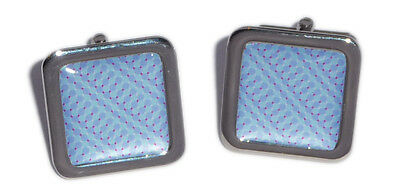 Blue & Red Illusion Patterned Cufflinks