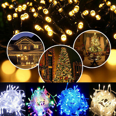30M/100M/200M Fairy LED String Christmas Lights Outdoor Party Garden Waterproof