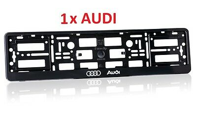 1 x AUDI  Number Plate Surrounds Holder Frame ABS-PC Plastic  RA 1