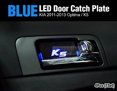 Promotion Blue LED Inner Door Catch Handle Plate 4P For KIA 2011-2015 Optima K5