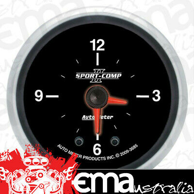 "Autometer Sport Comp Ii 2-1/16"" Clock Quartz Movement Au3685"