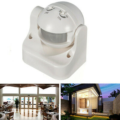 Outdoor 180 Degree Security PIR Infrared Motion Movement Sensor Detector Switch
