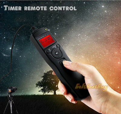 LCD Shutter Timer Remote Control Release fr Canon 650D 600D 550D 70D DSLR Camera