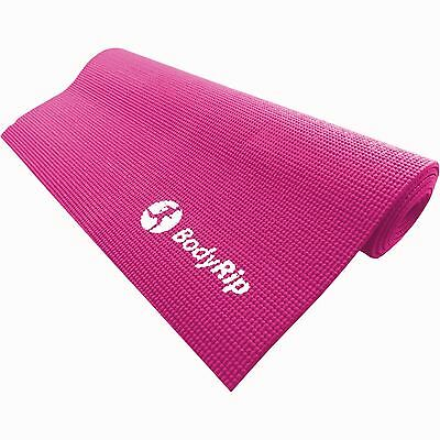 BodyRip PINK THICK FOAM YOGA PILATES GYM MAT 6mm FITNESS GYM EXERCISE TRAINING