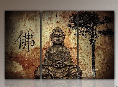 MODERN ABSTRACT CANVAS ART WALL DECOR OIL PAINTING-Buddha NO Framed