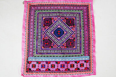 Hill Tribe Fabric Pink  Diamond New Fashionable Style Embroidered