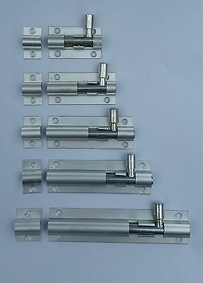 Various Size Door Bolt with screws Bathroom Toilet Shed Lock Catch Latch Slide