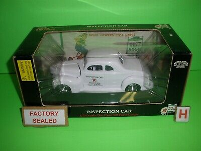 TEXACO 1940 FORD COUPE INSPECTION Car 1 of  3492 Racing Champions 1:24th NEW (D)
