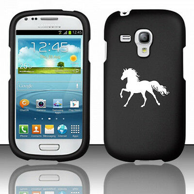 For Samsung Galaxy S III S3 MINI Rubber Hard Case Cover Horse