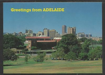 REAR VIEW OF THE SIR DONALD BRADMAN CRICKET STAND ADELAIDE OVAL POSTCARD c1980