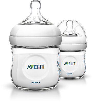 Avent Natural Feeding Bottle 125Ml 2 Pack - Clear