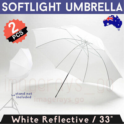 2pcs 84cm Photo Studio Pro Soft White Diffuser Photography Translucent Umbrella