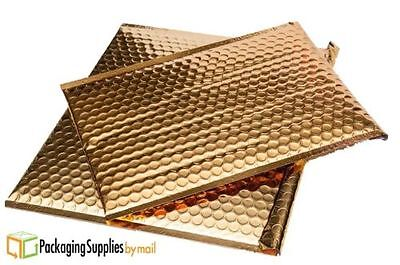 """7"""" x 6.75"""" Gold Metallic Bubble Mailers Padded Shipping Bags 500 Pcs"""
