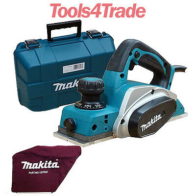 """Makita KP0800K 3""""/82mm Duty Planer in Carry Case 240V with Dust Bag & Carry Case"""