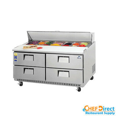 "Everest EPBNWR2-D4 60"" Four Drawer Sandwich Prep Table"