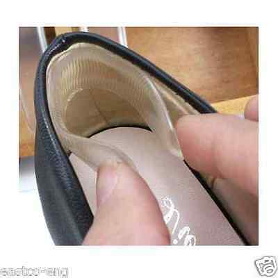 Silicone Heel Shoe Pads Inserts Insoles Liner Gel Cushion Shoe Grips UK SELLER
