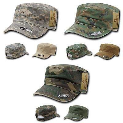 1 Dozen BDU Patrol Cadet Military Reversible Flat Camo Caps Hat Hats Wholesale
