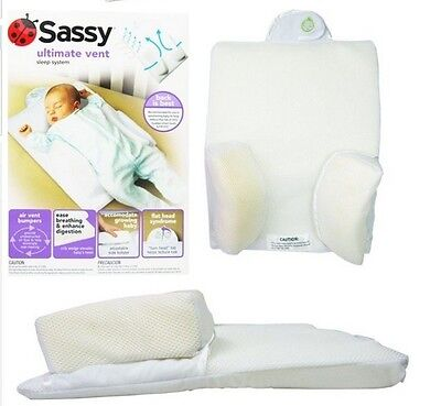Sassy Infant Sleep Postioners Sleep System Crib Prevent Flat Head Infant Pillow