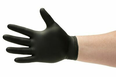 200 Disposable Black Nitrile Gloves Powder & Latex Free 3.5 Mil Size: X-large