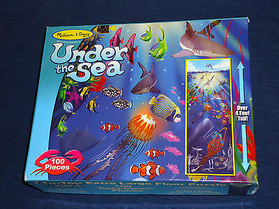 Melissa & Doug UNDER THE SEA Extra Large Floor Puzzle 100 pieces Over 4 ft tall