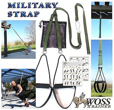 WOSS Military Olive Drab Trainer, Made In US Suspension Home Gym Training