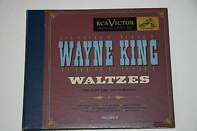 "3x78rpm WAYNE KING - WALTZES Vol 2 -10"" 3 out of 4 Box Set IN APPLE BLOSSOM TIME"