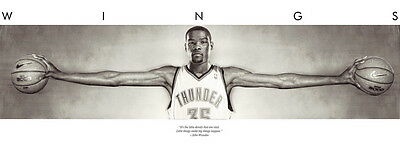 "01 Kevin Durant Wings OKC NBA Basketball MVP MJ Michael Jordan 37""x14"" Poster"