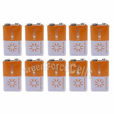 10 pcs 9V Volt Super Heavy Duty Carbon-Zinc Battery Cell 6F22 Block Naccon