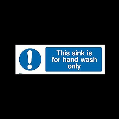 Hand Wash Sink Only Please - Sign, Sticker - All Sizes & Materials - (MISC26)