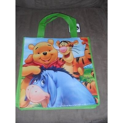 Disney Winnie the Pooh Tiger & Eeyore Resuable Tote Bag 13 X 13 X 6 Inches