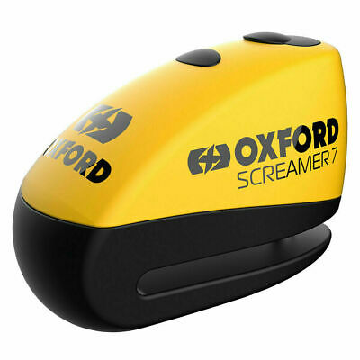 Alarm Screamer Disc Lock Motorcycle Scooter Oxford Lock Free DLR + 6 Batteries
