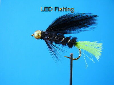 051 6 x LONGSHANK GOLDHEAD VIVA FLIES SIZE 10 BY AQUASTRONG