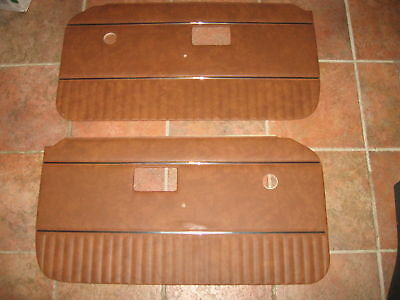 New Pair of Door Panels for MGB 1970-76 Autumn Leaf W/ Chrome Strip Made in UK