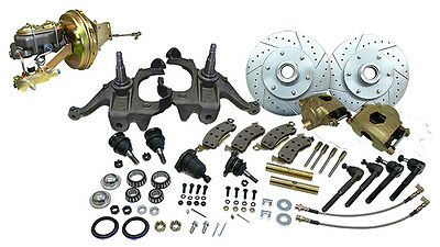 1963-66 Chevy-GMC Truck C10 Front Disc Brake Conversion Kit, 5 Lug Drop Height